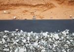 Quel type de matériaux peut-on apposer sur un feutre géotextile ?